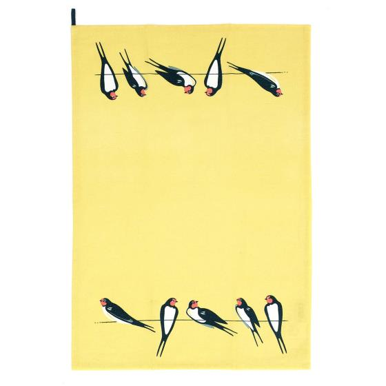 RSPB Swallows tea towel yellow product photo Default L