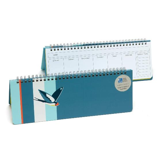 RSPB Swallows desktop weekly planner product photo Default L