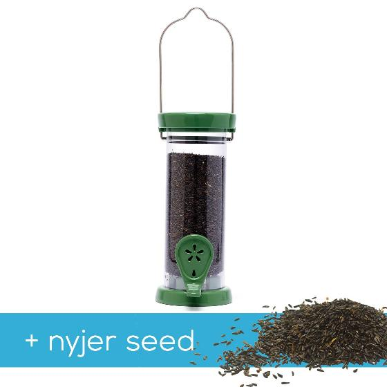 RSPB Ultimate small easy-clean nyjer feeder + 5.5kg Nyjer seed product photo Default L