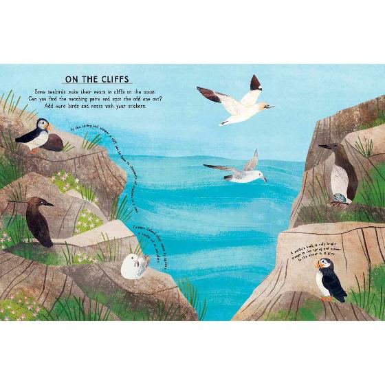 Seaside activity and sticker book by RSPB product photo Side View -  - additional image 3 L