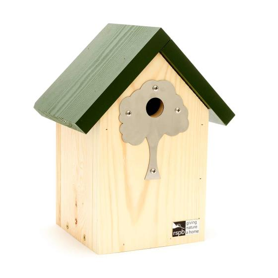Shaped nest box plate, tree product photo Front View - additional image 1 L