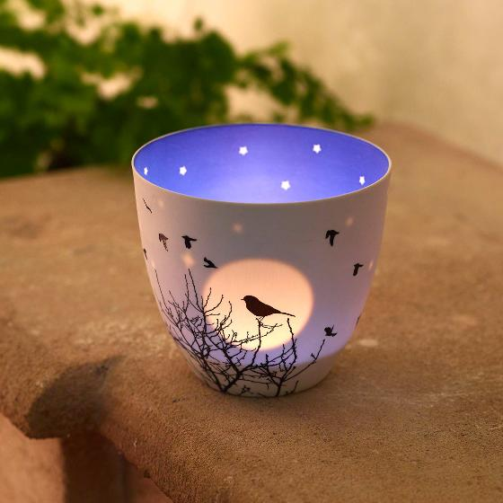 Silhouette tea light holder product photo Side View -  - additional image 3 L