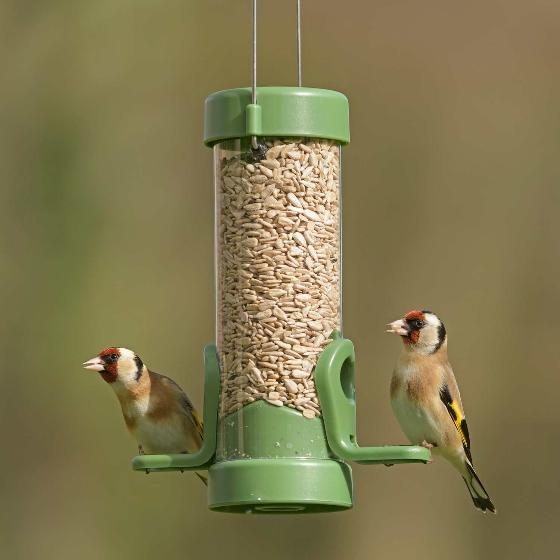 Classic easy-clean small seed feeder with 1.8kg sunflower hearts product photo Front View - additional image 1 L