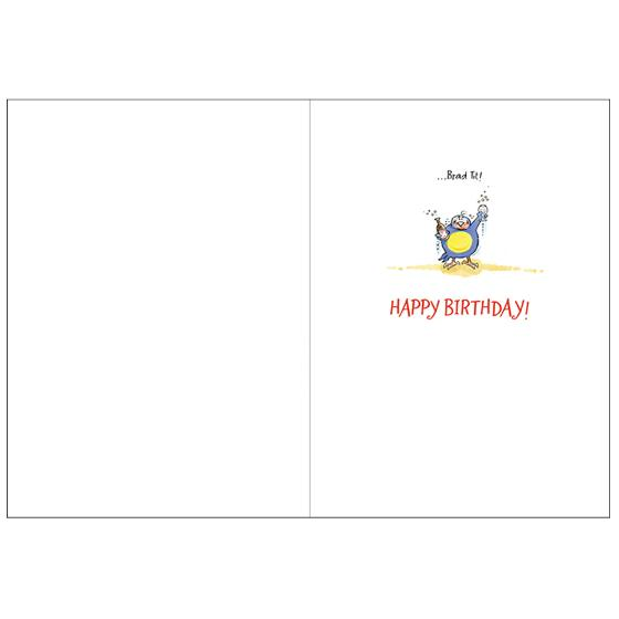 Stars of the bird world birthday card product photo Side View -  - additional image 3 L