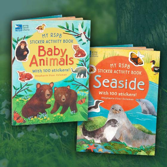 Sticker activity books - RSPB Baby animals and Seaside double pack product photo Default L