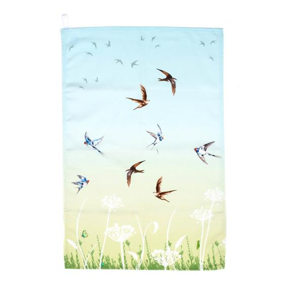 Summer haze cotton tea towel green product photo Default L