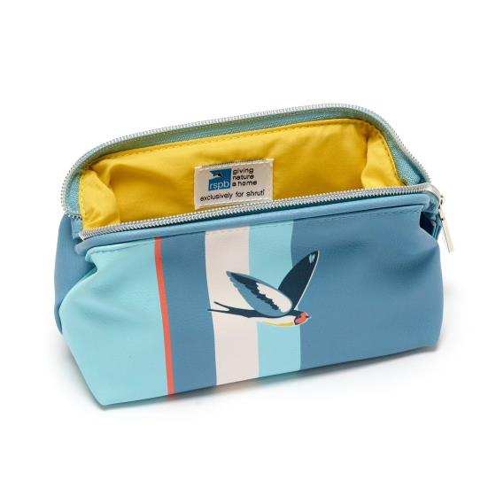 Cosmetic bag, swallow design product photo Side View -  - additional image 3 L