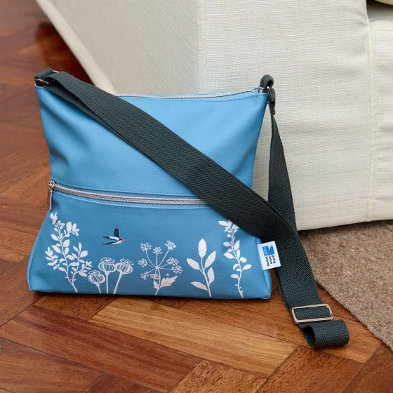 Cross-body sling bag, swallows product photo Side View -  - additional image 3 L