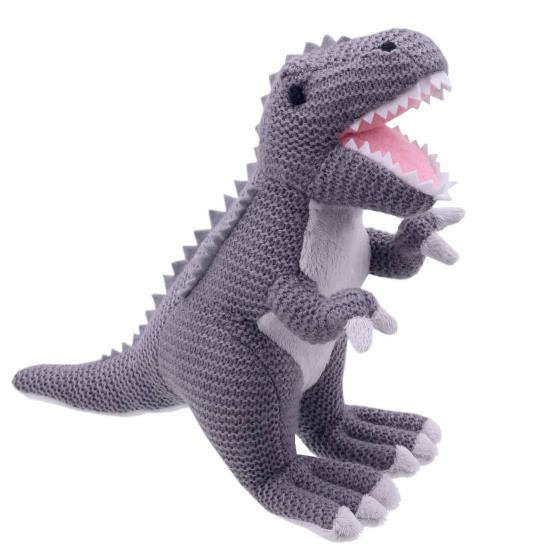 T-rex knitted dinosaur product photo Default L