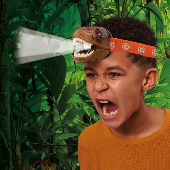 T-Rex dinosaur head torch product photo Back View -  - additional image 2 L