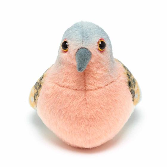 RSPB singing turtle dove soft toy product photo Back View -  - additional image 2 L