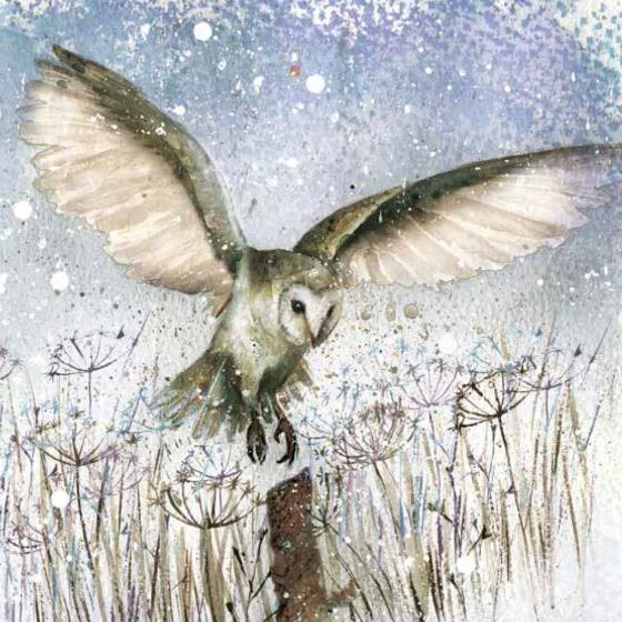 Twilight landing RSPB charity Christmas cards - 10 pack product photo Default L