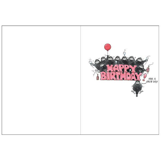 'Velcrow' birthday card product photo Side View -  - additional image 3 L