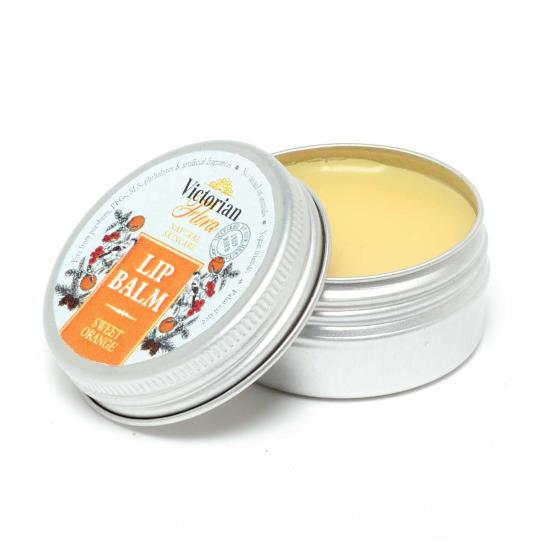 Sweet orange lip balm tin - RSPB Victorian flora range product photo Default L