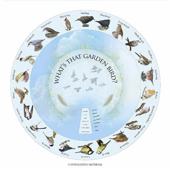 What's that garden bird?: Birdspotting Wheel and Guide Book product photo Side View -  - additional image 3 L
