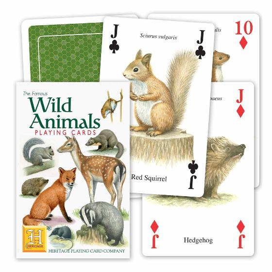 Wild animals playing cards product photo Default L