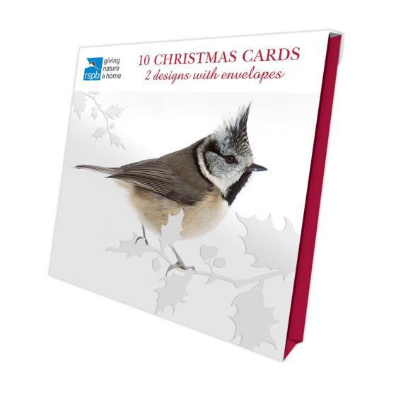 Winter perching RSPB charity Christmas cards - 10 pack product photo Front View - additional image 1 L