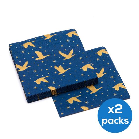 Winter skies napkins, two packs product photo Default L