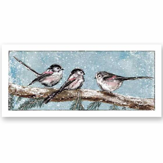 Winter tails RSPB charity Christmas cards - 10 pack product photo Default L