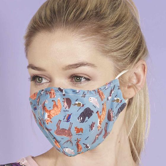 Reusable face mask, woodland design product photo Default L