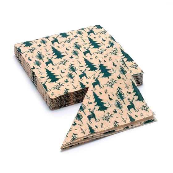 Woodland recycled napkins x 20 product photo Default L
