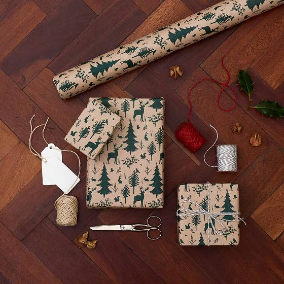 Woodland recycled wrapping paper 5m product photo