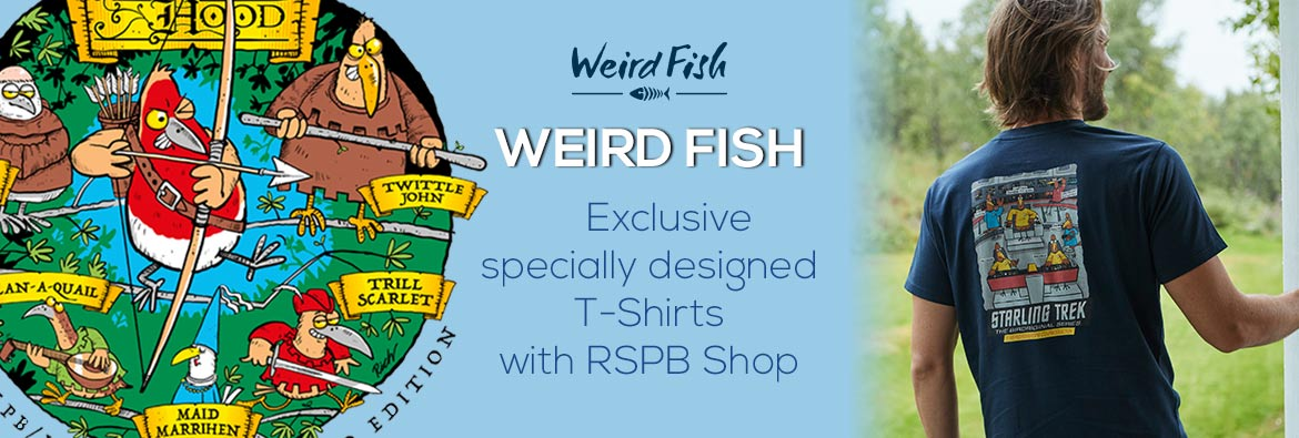 Exclusive Weird Fish T-shirt designs at RSPB shop
