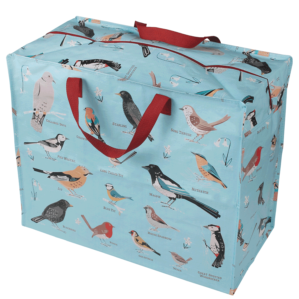 Large storage bag, garden birds design product photo Default L