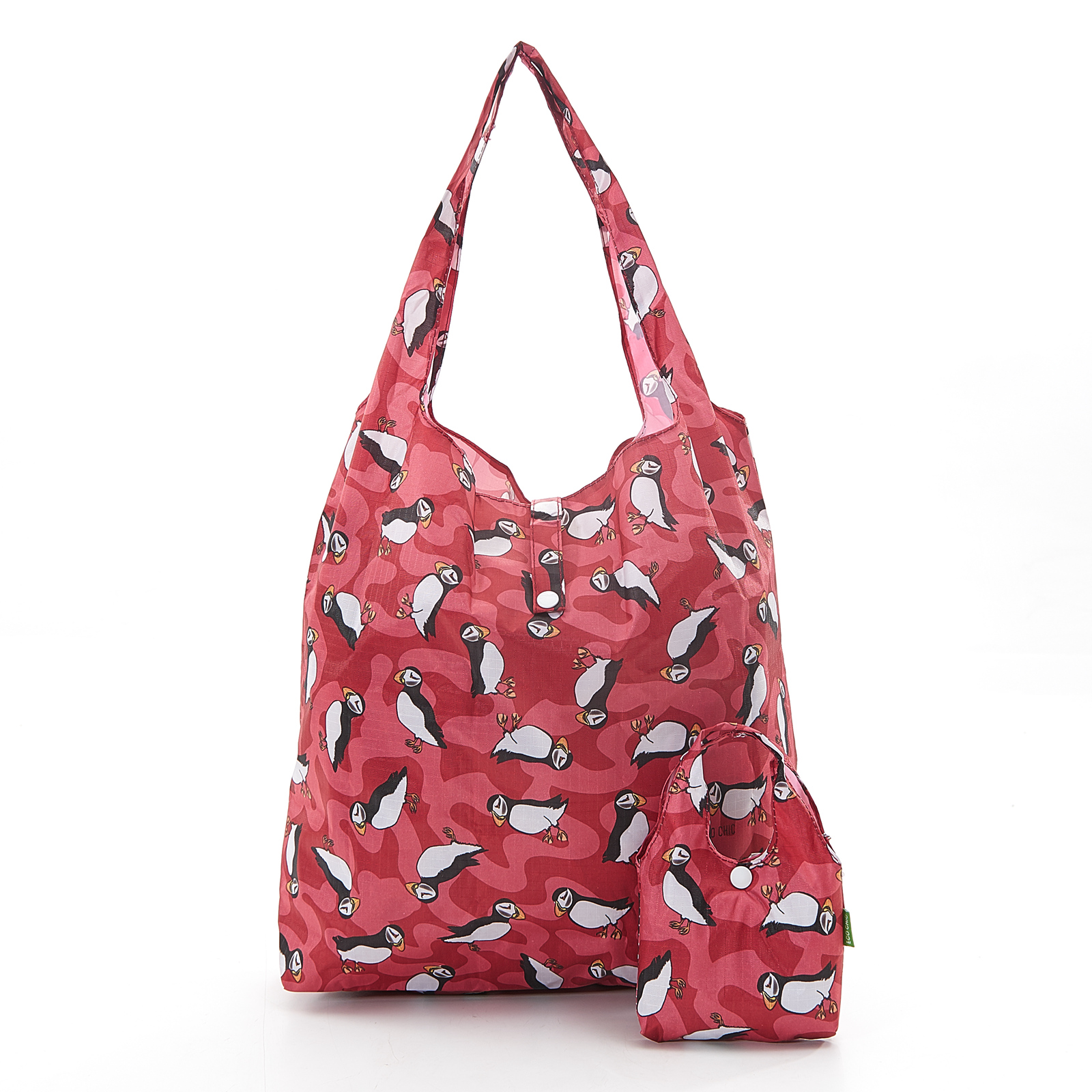 Foldaway shopping bag, puffins product photo Front View - additional image 1 T