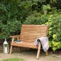 Two seater bench - RSPB Garden furniture, Lodge Collection product photo Back View -  - additional image 2 T