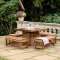 Table and benches patio set - RSPB Garden furniture, Lodge Collection product photo