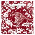 Holly and bird RSPB charity Christmas cards - 10 pack product photo Side View -  - additional image 3 T