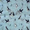 Light blue puffin RSPB organic cotton scarf product photo Side View -  - additional image 3 T