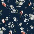 Lorna Syson wallpaper, navy product photo Side View -  - additional image 3 T