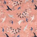 Pink murmuration RSPB organic cotton scarf product photo Side View -  - additional image 3 T