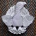 Malcolm Appleby Capercaillie silver brooch product photo