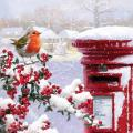 Round robin RSPB charity Christmas cards - 10 pack product photo