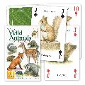 Wild animals playing cards product photo