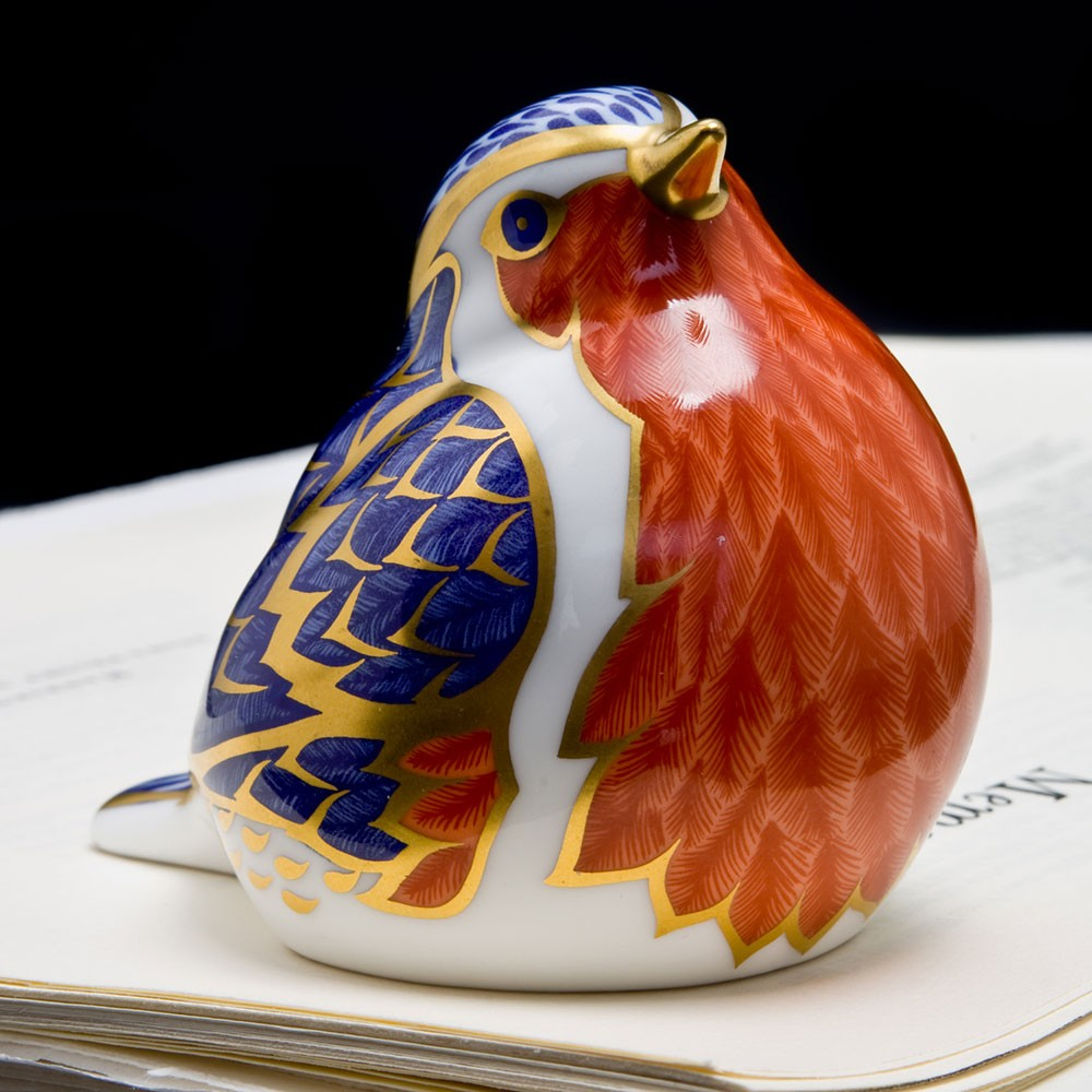 Royal Crown Derby, Robin paperweight product photo Front View - additional image 1 L
