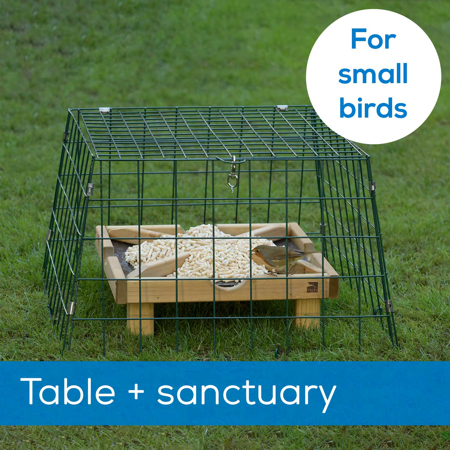 Ground feeding table plus Flat-topped wide mesh sanctuary - New design product photo